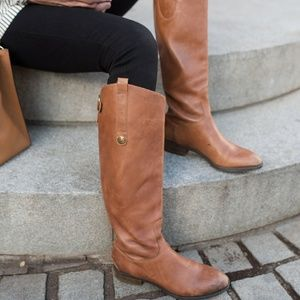 Sam Edelman Penny Riding Boots in Whiskey Brown